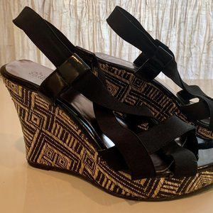 Charles David | Black Woven Wedge Sandal